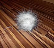 Materiál ručne robený - Kožušinový brmbolec 14 cm - 7646702_