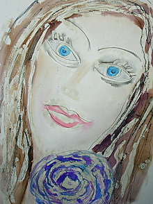 Kresby - Dáma s kvetom - 7644127_