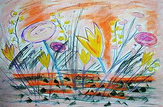 Kresby - Pastel - Kvety - 7644173_