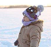 Detské čiapky - jedinečný setík s medvedíkom - 7646433_