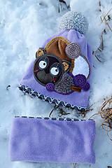 Detské čiapky - jedinečný setík s medvedíkom - 7646434_