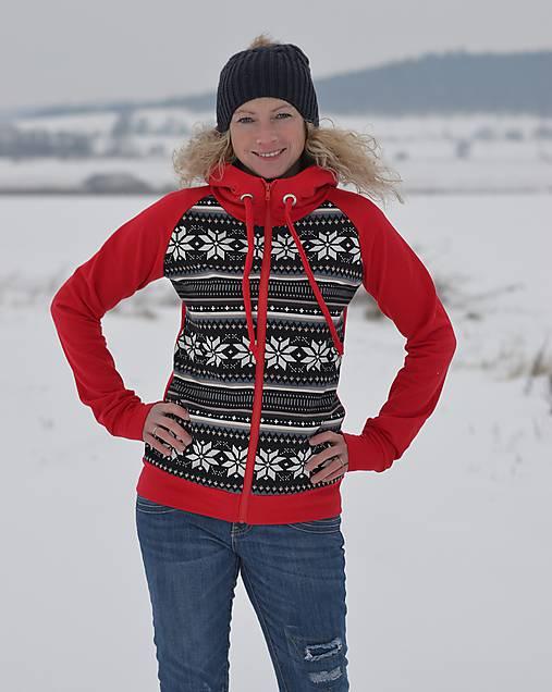 Mikina s norským vzorem   Boruvkova - SAShE.sk - Handmade Mikiny 4c13dd0a893