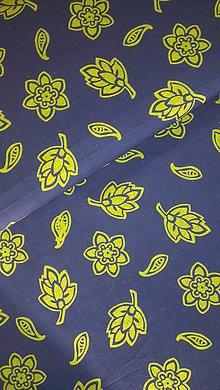 Úžitkový textil - Obrus. Zo starodávnej modrotlače - ORIGINÁL - 7643505_
