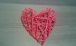 Pletené srdce stredné