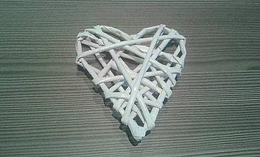 Dekorácie - Pletené srdce malé - 7645172_