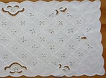 Úžitkový textil - Richelieu, biela, 71 x 31 cm - 7643605_