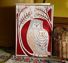 Papiernictvo - pohľadnica sova... - 7644099_