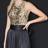Šaty - Spoločenské šaty s flitrami rôzne farby - 7644424_