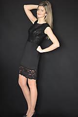 Šaty - Elastické púzdrové šaty s krajkou rôzne farby - 7644681_