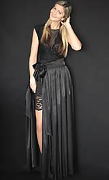 Šaty - Elastické púzdrové šaty s krajkou rôzne farby - 7644685_