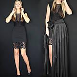 Šaty - Elastické púzdrové šaty s krajkou rôzne farby - 7644719_