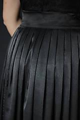 Sukne - Saténová skladaná sukňa na zaviazanie rôzne farby - 7644847_