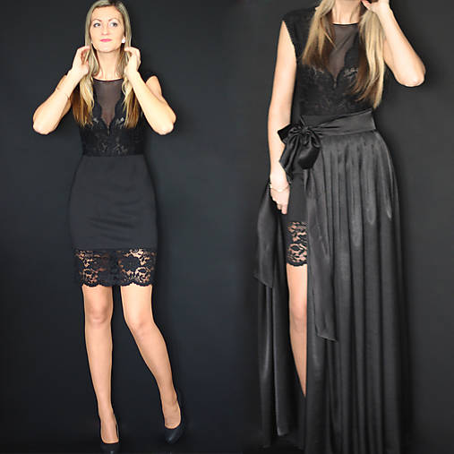 Elastické púzdrové šaty s krajkou rôzne farby