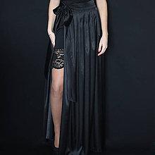 Sukne - Saténová skladaná sukňa na zaviazanie rôzne farby - 7644846_