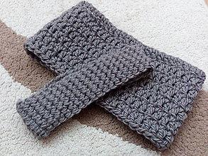 Čiapky - Super teplá a hrejivá čelenka (vlna + alpaka) - 7645263_