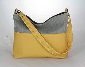 Kabelky - Aneta žltá + šedá - 7645443_