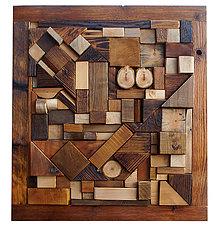 Dekorácie - Drevená mozaika - 7646579_
