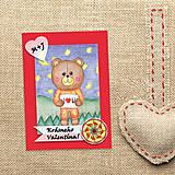Papiernictvo - Medvedík - valentínska pohľadnica - 7646801_