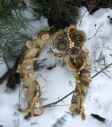 Dekorácie - Vianočná podkova s vôňou škorice - 7649739_