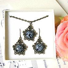 Sady šperkov - Bronze Snowflake Obsidian Set / Sada s vločkovým obsidiánom - 7647643_