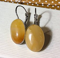 Náušnice - Yellow Aventurine French Clasp Earrings / Náušnice so žltým aventurínom - 7649178_
