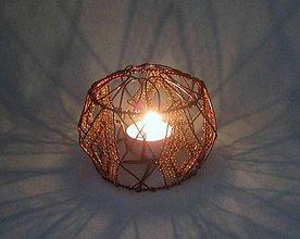 Svietidlá a sviečky - Medený drôtený svietnik - 7651629_