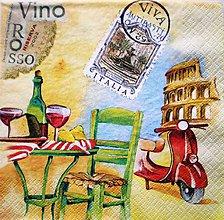 Papier - S157 - Servítky - víno, Italia, Taliansko, skúter - 7648018_