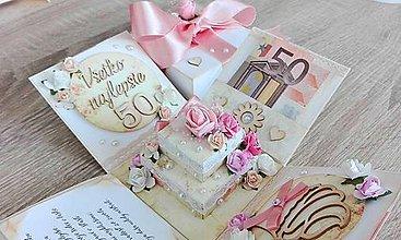 Papiernictvo - Darčeková krabička na peniaze na narodeniny - 7649054_