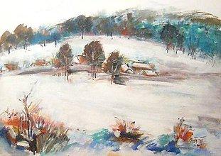 Obrazy - Sneh na horách, 70x50 - 7647494_