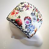 Čiapky - Ushko – Popolavá ruža - 7649349_