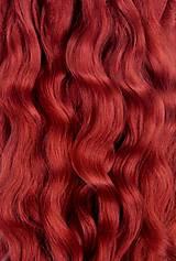 Materiál ručne robený - Vlasy pre bábiky - medené - 7651198_