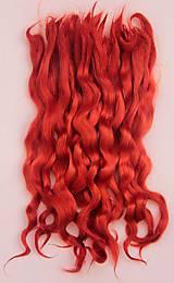 Materiál ručne robený - Vlasy pre bábiky - jasné ryšavé - 7651206_
