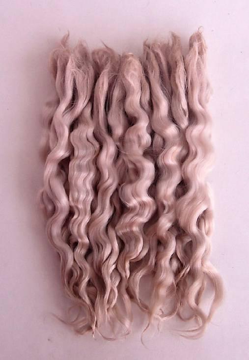 Vlasy pre bábiky - svetlý blond