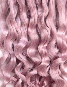 Materiál ručne robený - Vlasy pre bábiky - ružový blond - 7650811_
