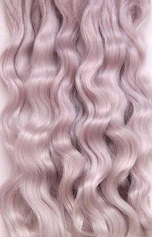 Materiál ručne robený - Vlasy pre bábiky - perlové - 7650924_
