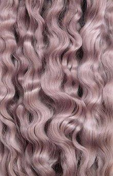 Materiál ručne robený - Vlasy pre bábiky - strieborný blond - 7650937_