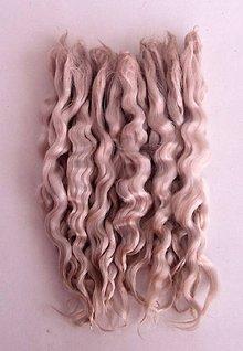 Materiál ručne robený - Vlasy pre bábiky - svetlý blond - 7650941_