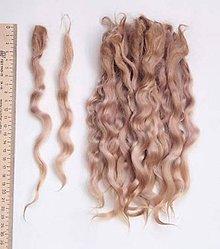 Materiál ručne robený - Vlasy pre bábiky - nežný blond - 7650962_