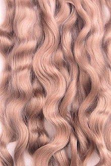 Materiál ručne robený - Vlasy pre bábiky - pšenično popolavé - 7650971_