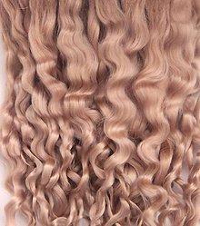 Materiál ručne robený - Vlasy pre bábiky - zlatistý blond - 7650976_