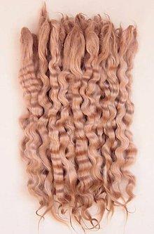 Materiál ručne robený - Vlasy pre bábiky - svetlo hnedé - 7651031_