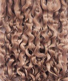 Materiál ručne robený - Vlasy pre bábiky - hnedé - 7651034_
