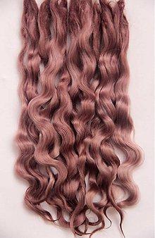 Materiál ručne robený - Vlasy pre bábiky - kakao - 7651044_