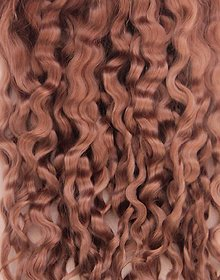 Materiál ručne robený - Vlasy pre bábiky - nežné hnedé - 7651052_