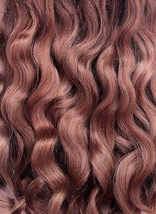 Materiál ručne robený - Vlasy pre bábiky - stredne hnedé - 7651068_