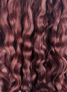 Materiál ručne robený - Vlasy pre bábiky - tmavšie hnedé - 7651076_