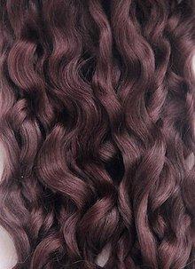 Materiál ručne robený - Vlasy pre bábiky - gaštanové - 7651082_