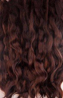 Materiál ručne robený - Vlasy pre bábiky - horúca čokoláda - 7651104_