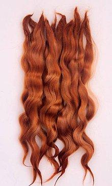 Materiál ručne robený - Vlasy pre bábiky - zlatisto ryšavé - 7651153_