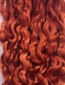 Materiál ručne robený - Vlasy pre bábiky - ryšavé - 7651172_